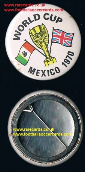 1970 World Cup Union Jack Mexico 70  tin badge WC70 pin intact
